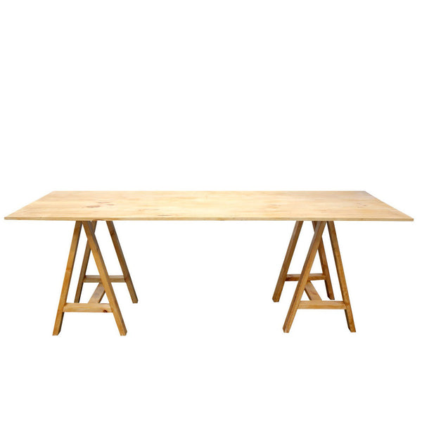 A Frame Wooden Trestle Table