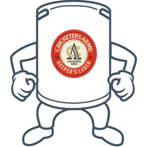 Cricketers Arms Keeper's Lager <br> 50lt Keg