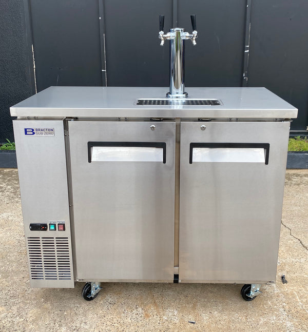 Commercial Quality Double Door Keg Fridge Complete Package