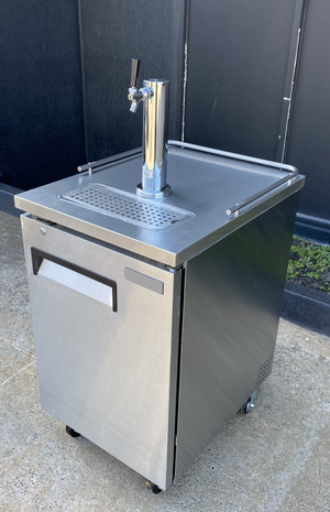 Commercial Quality Single Door Double Tap Keg Fridge Complete Package (Very Low Stock)