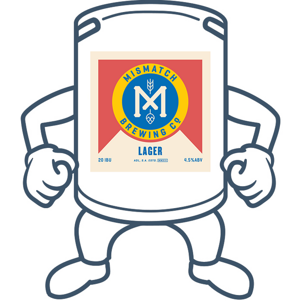 Mismatch Brewing Lager <br>50lt Keg