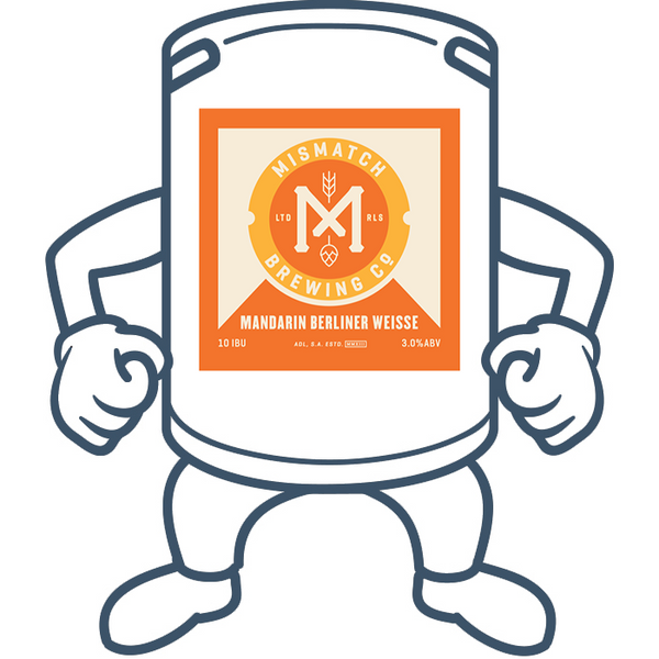 Mismatch Brewing Mandarin Berliner Weisse <br>50lt Keg (Limited Availability)