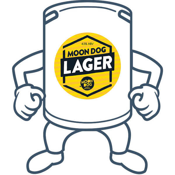 Moon Dog Lager <br>50lt Keg