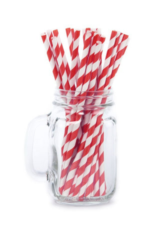 Paper Straws <br>Striped Red