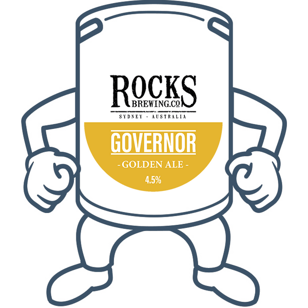 Rocks Brewing Co. The Governor Golden Ale <br>50lt Keg