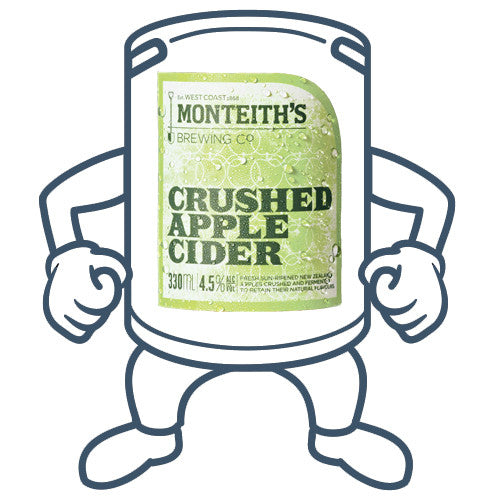 Monteiths Crushed Apple Cider <br>50lt Keg
