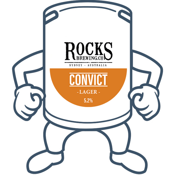 Rocks Brewing Co. The Convict Lager <br>50lt Keg