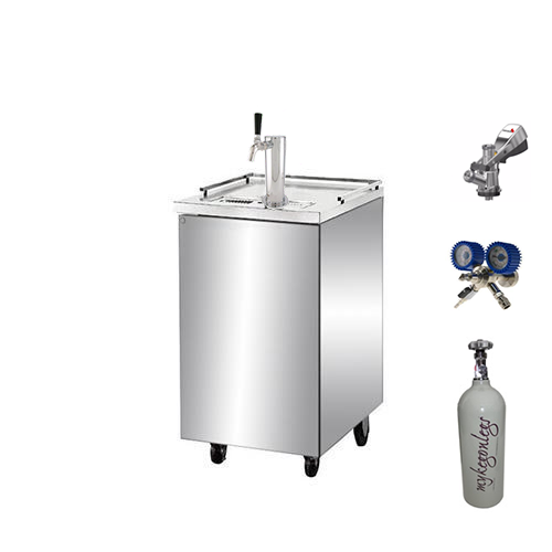 Sub Zero Single Door Single Tap Keg Fridge Complete Package (Low Stock)