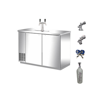 Commercial Quality Double Door Keg Fridge Complete Package (Out of stock due back in late December)