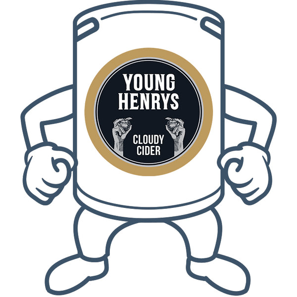 Young Henrys Cloudy Cider <br>50lt Keg