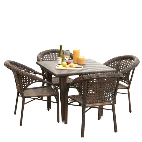 Auclair Outdoor 5 Piece Wicker Dining SetOutdoor Dining Sets   Denise Austin Home. Outdoor Dining Sets Austin. Home Design Ideas