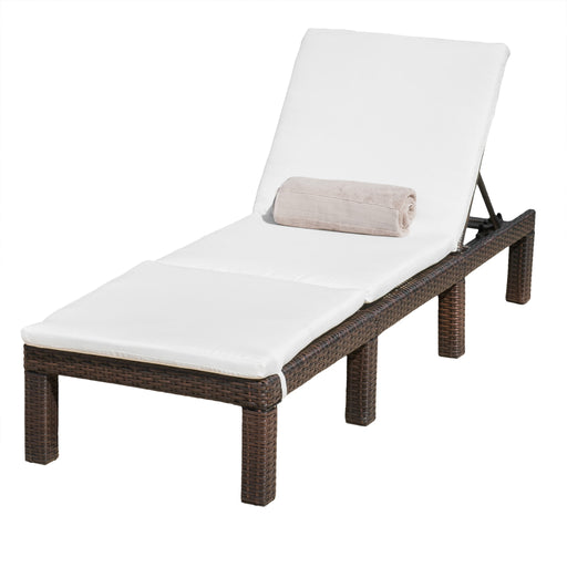 image outdoor furniture chaise. Dursley Outdoor Multi Brown Wicker Adjustable Chaise Lounge Chair With Cushion Image Furniture E