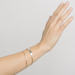 Silver Thread Bangle