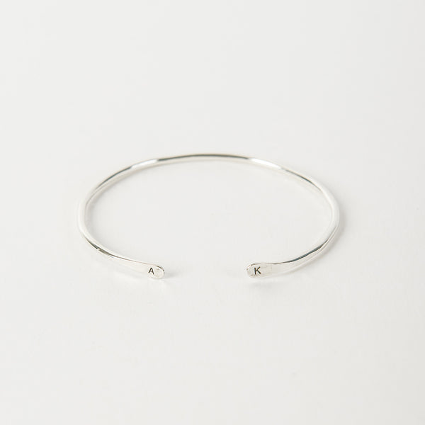 Personalized Kennedy Cuff / Silver