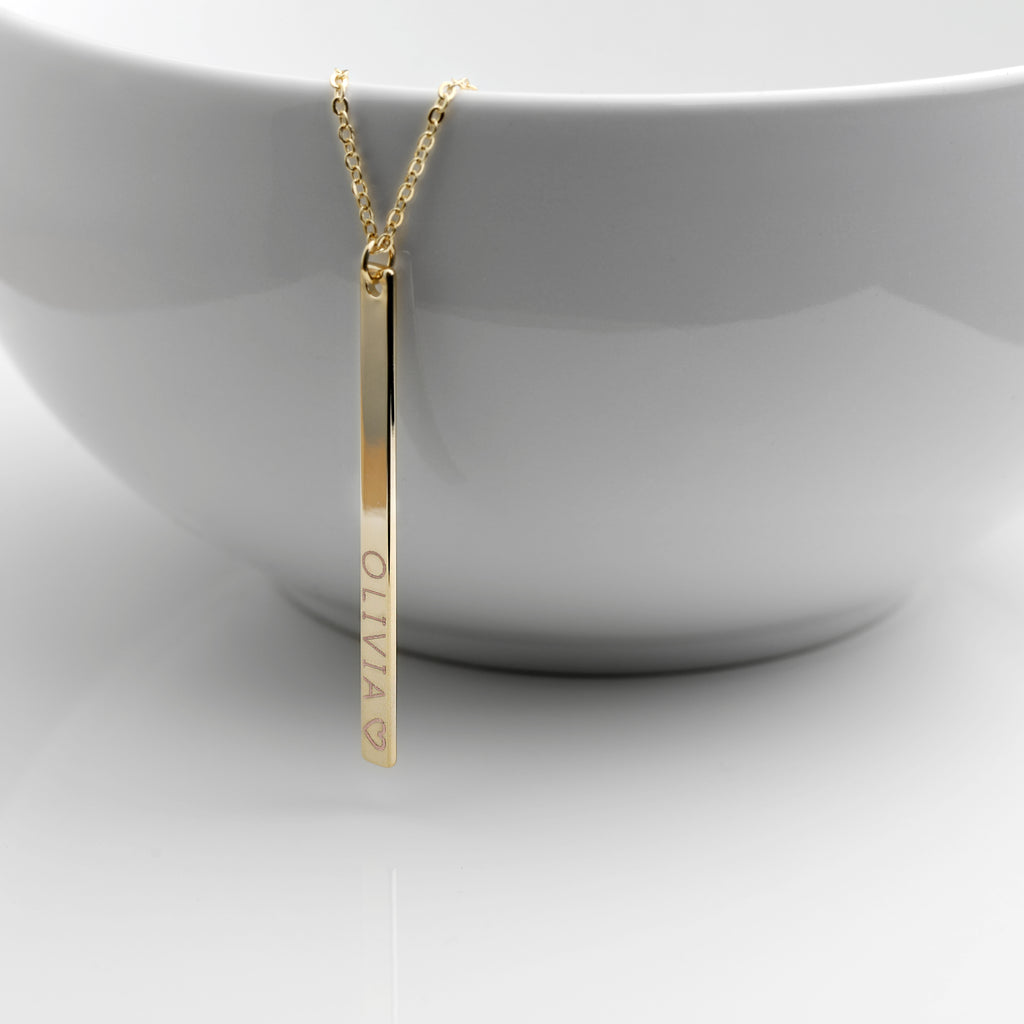Athena Vertical Bar Necklace