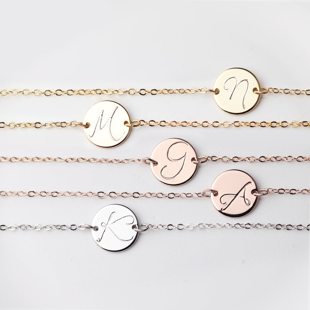 Stella Personalized Disc Choker Necklace