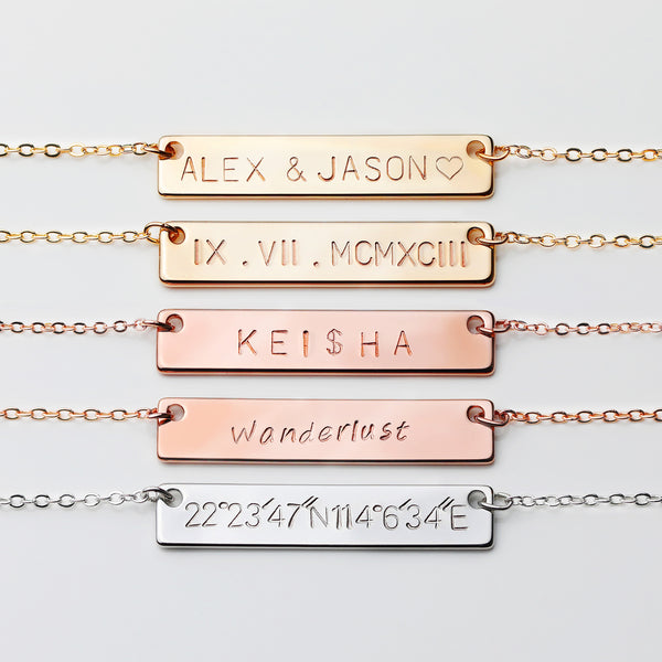 Cait Personalized Bar Necklace
