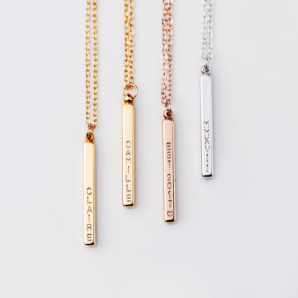 Ewa Personalized Bar Necklace