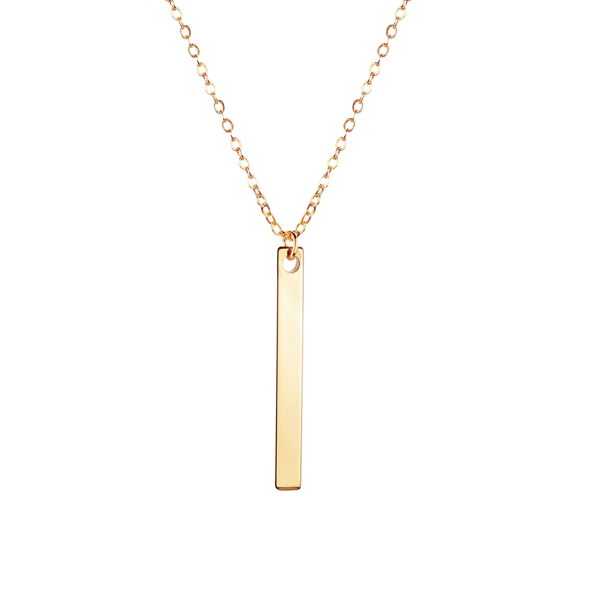 engraved horizontal img bar product inspirational skinny pendant necklace rose gold