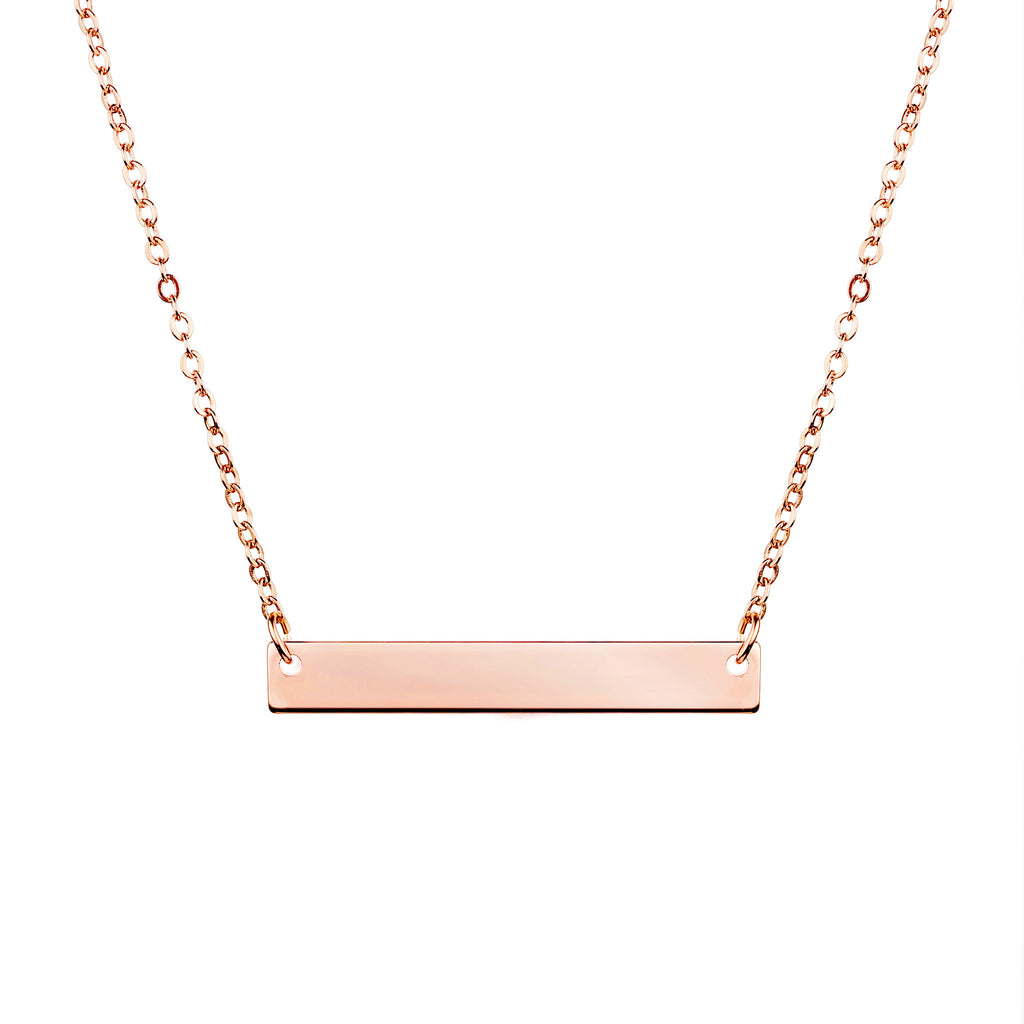 Iris Personalized Bar Necklace