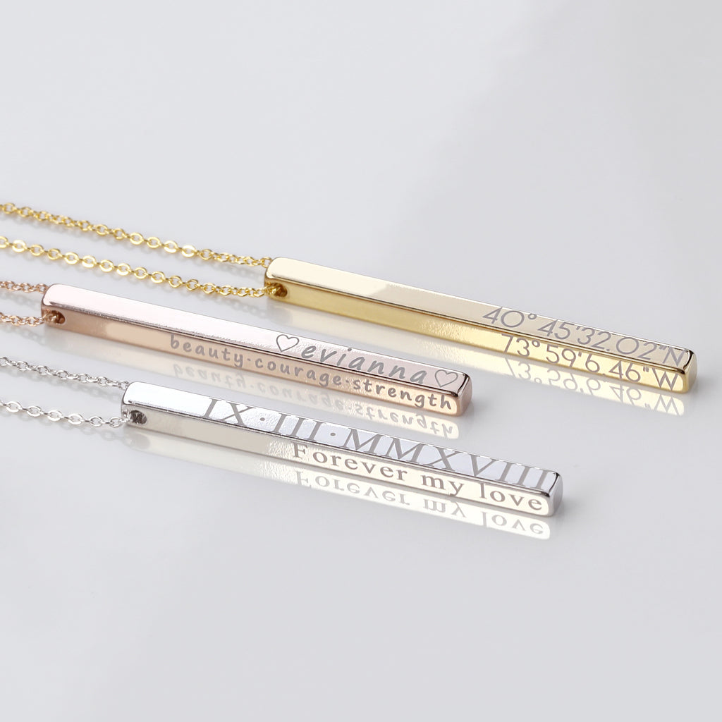 Lexa 4-Sided Bar Necklace