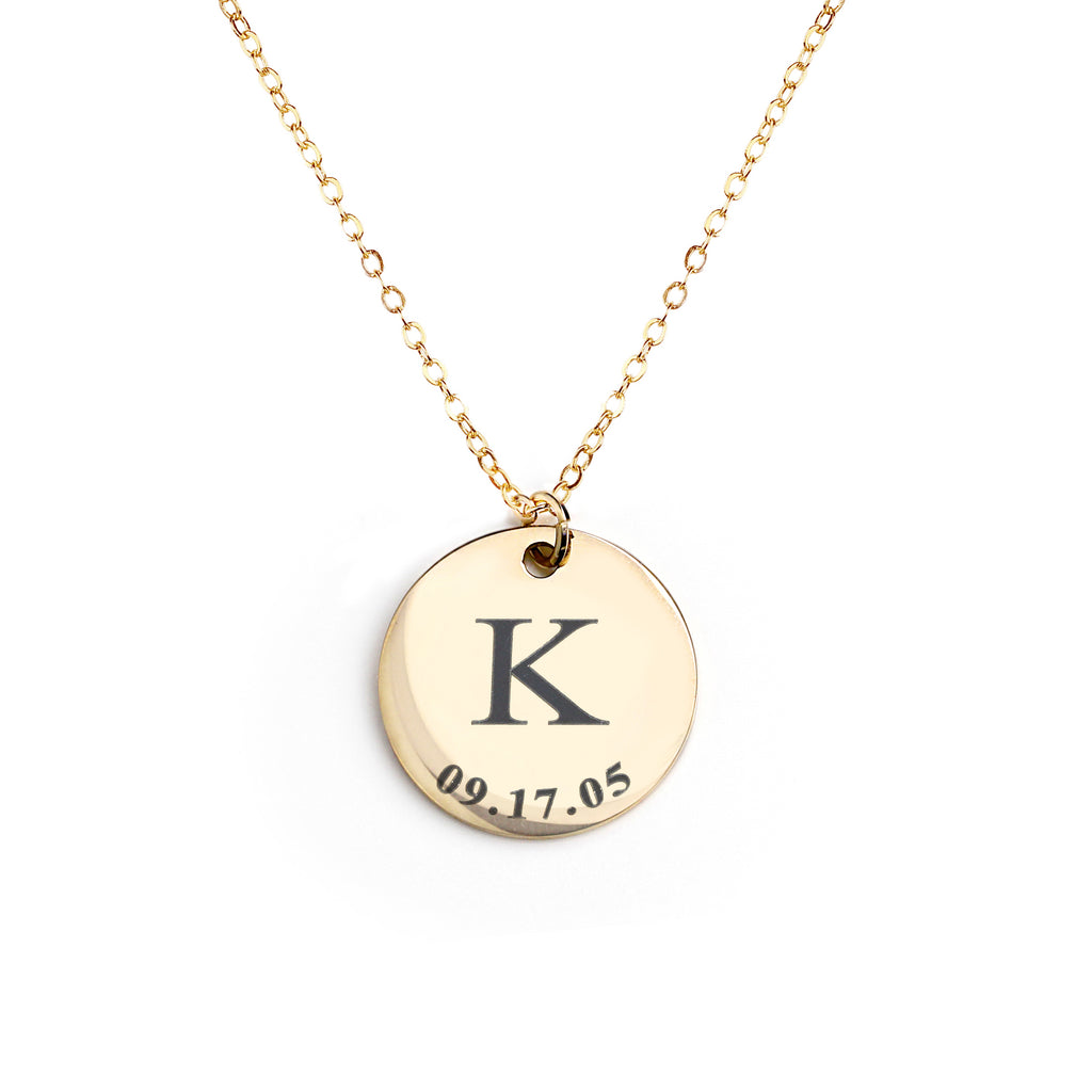 Kelsi Large Disc Necklace