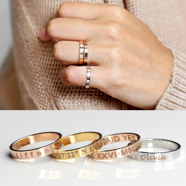 Lux Personalized Band Ring