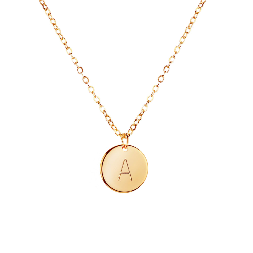 Ethel Initial Disc Necklace