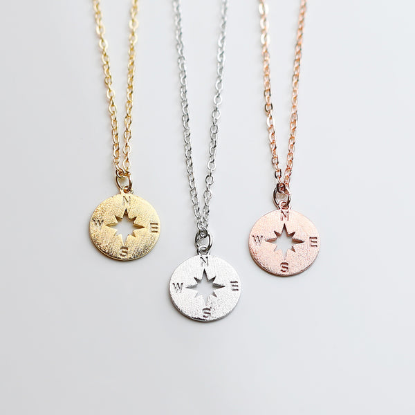 Roya Compass Charm Necklace