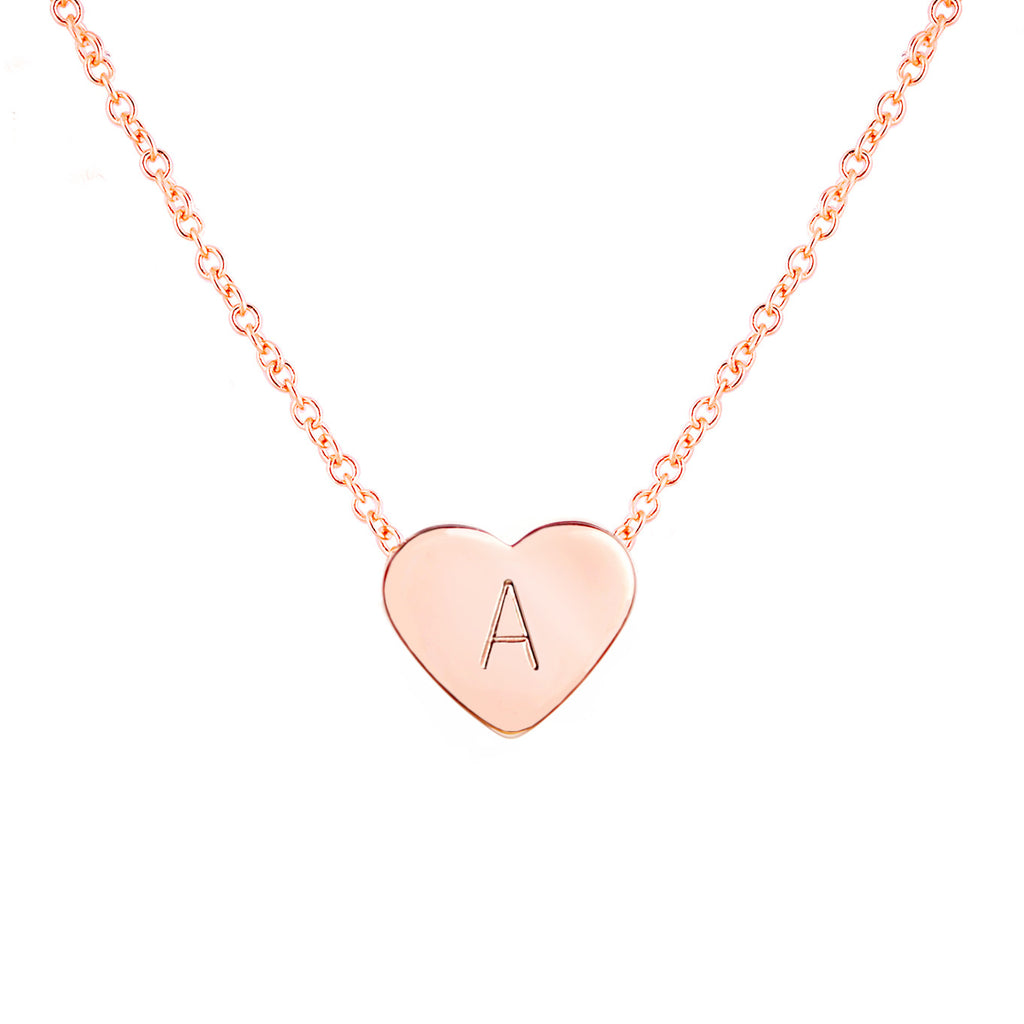 Amaral  Personalized Heart Necklace