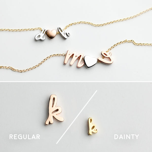 Luna Personalized Initial Necklace