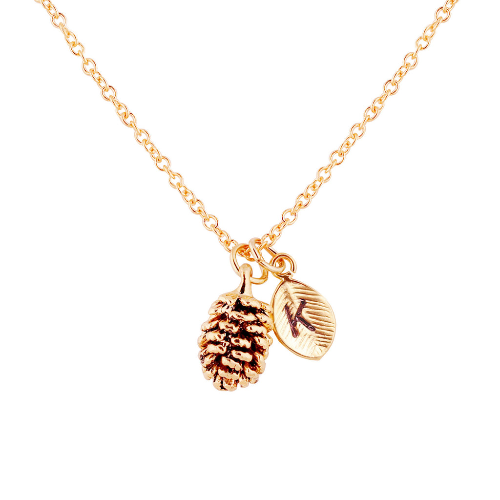 Emma Pinecone Personalized Charm Necklace