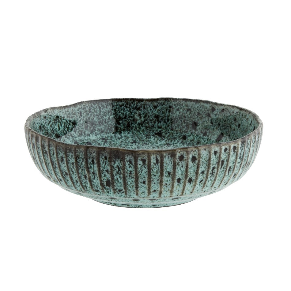 Stoneware Serving Bowl - Large - Green