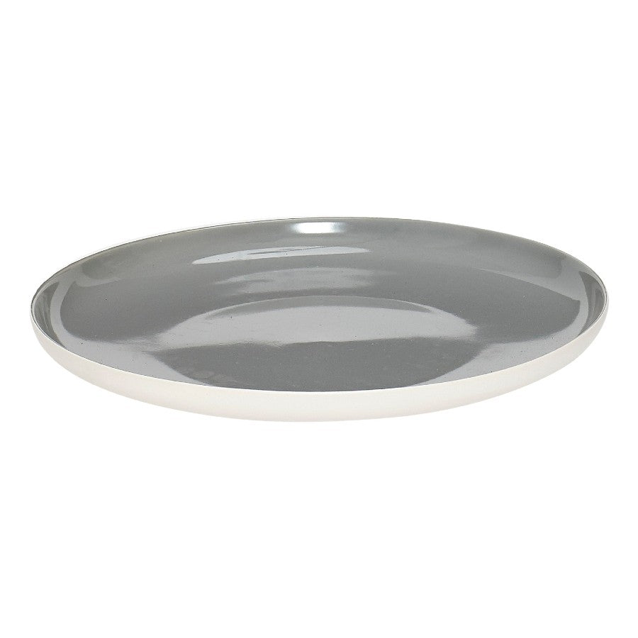 Porcelain Dinner Plate - Grey