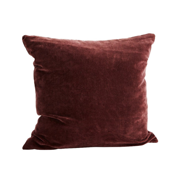 Velvet Cushion Cover - Dark Plum - 50x50cm