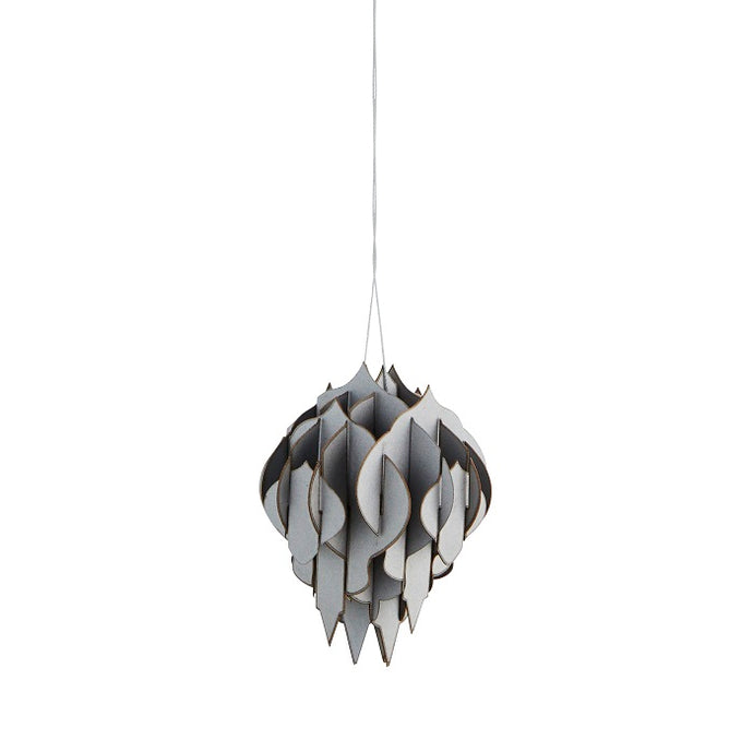 Paper Hanging Decoration - Silver