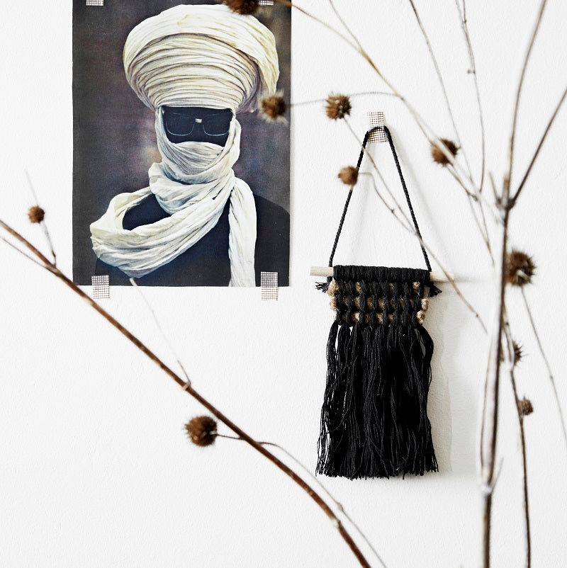 Mini Macrame Wall Hanging - Black