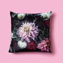 Load image into Gallery viewer, Dark Dahlia Silk Velvet Cushion Cover