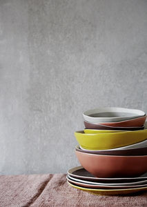 Stoneware-coloured-Bowls-And-Plates