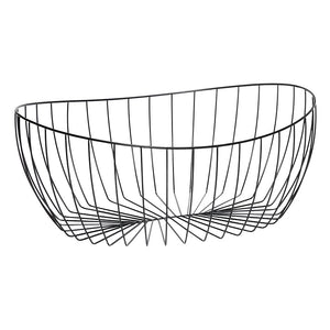Black Metal Wire Storage Basket - Set of two sizes