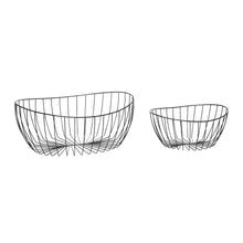 Load image into Gallery viewer, Black Metal Wire Storage Basket - Set of two sizes