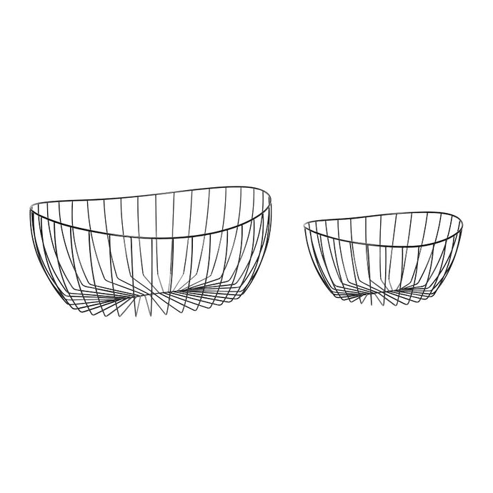Black Metal Wire Storage Basket - 2 sizes