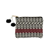 Load image into Gallery viewer, Cotton Coin Purse - Woven - With Red Strip
