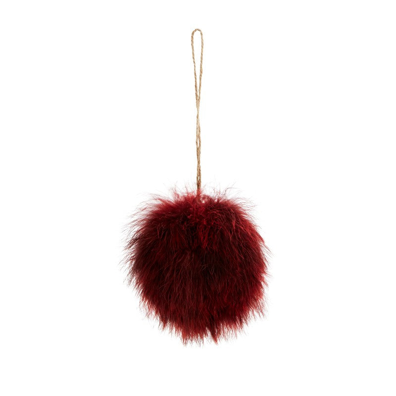 Feather Hanging Decoration - Red - SPECIAL