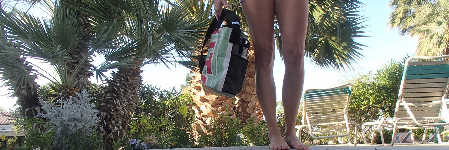 Sole Supply Co Tote Bag by the pool at Desert Hot Springs