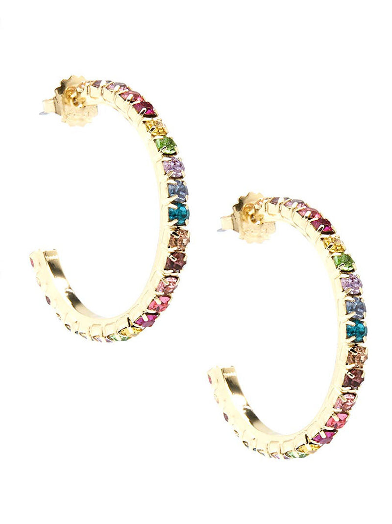 Colorful Crystal Hoop Earring
