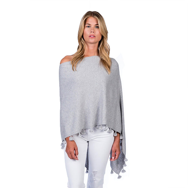 Cotton Cashmere Tassel Shawl