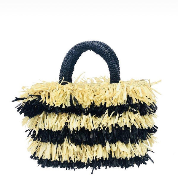 Frou Frou Black and Natural Bag