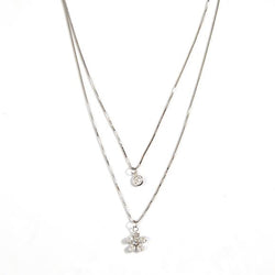 Lily Layer Necklace Wildflower Silver