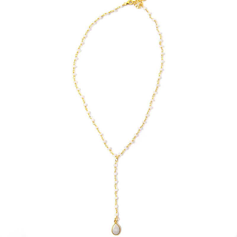 Luna Lariat Necklace Moonstone